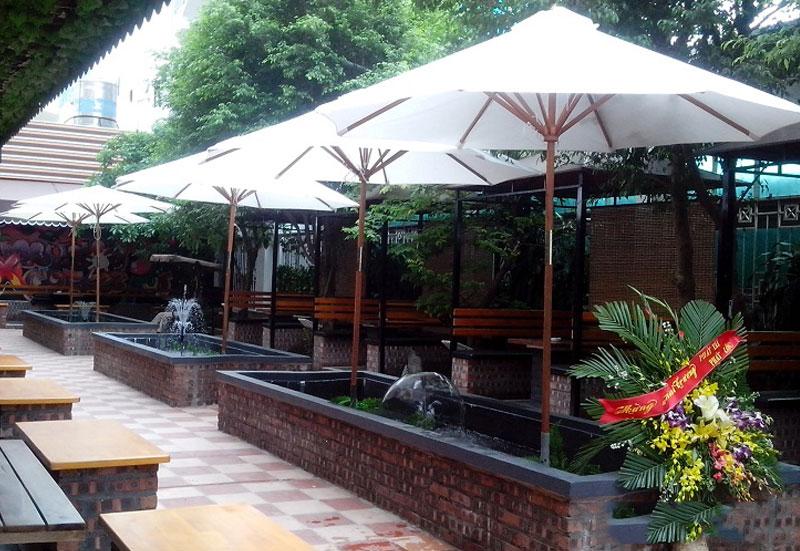 Ô Dù Che Mưa Nắng Quán Cafe Huê Đà Nẵng