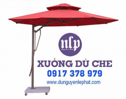 Dù Che Quán Cafe Lệch Tâm Cần Thơ