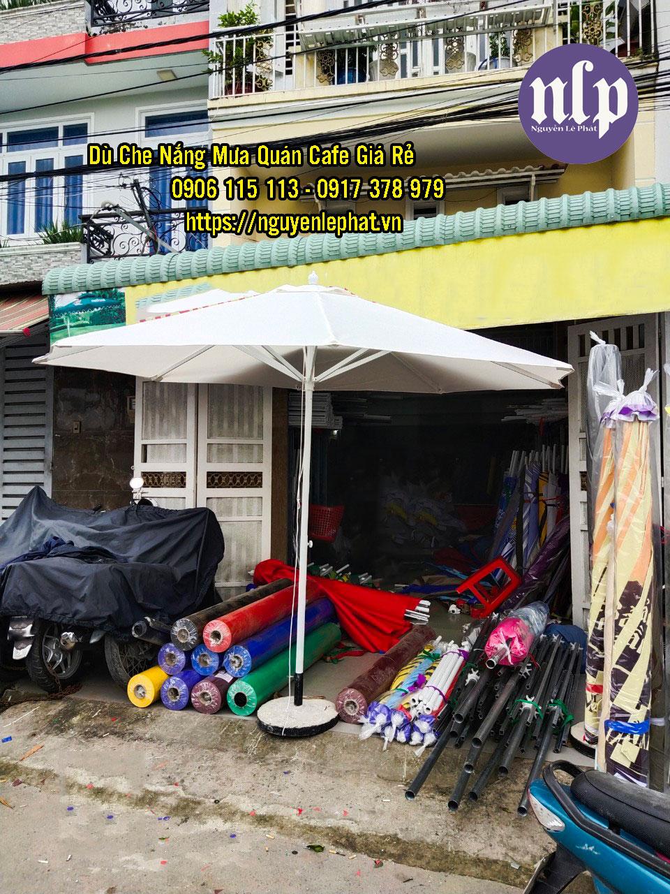 Mua bán dù che nắng mưa quán cafe ngoài trời tại Vũng Tàu